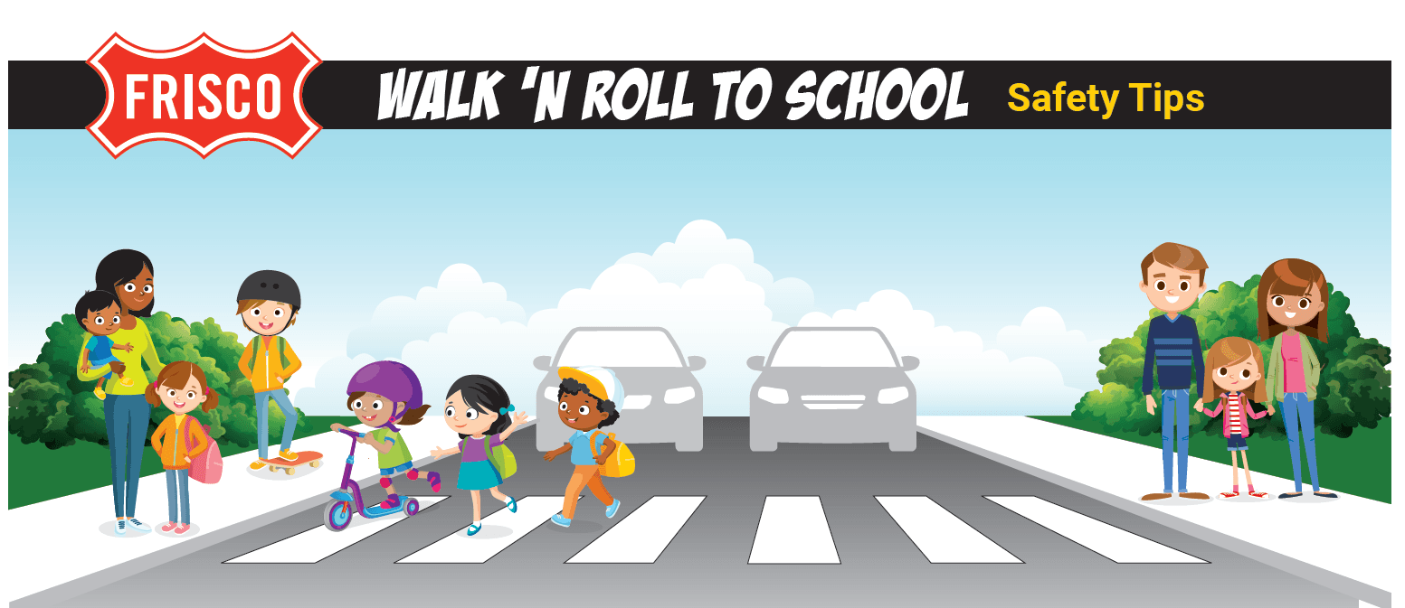 Walk and Roll to School Illustration