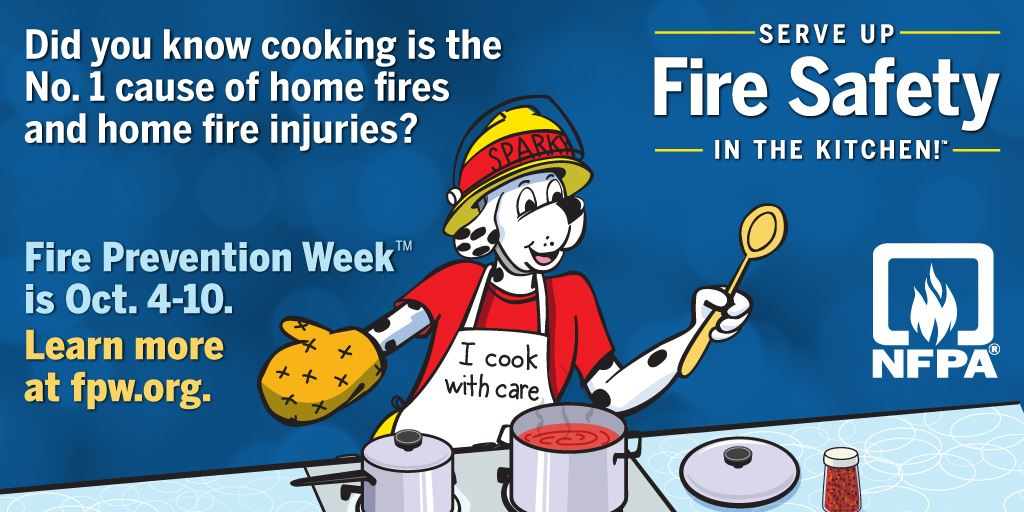 Fire Prevention Week Cooking Safety Logo