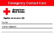 Red Cross Emergency Contact Card